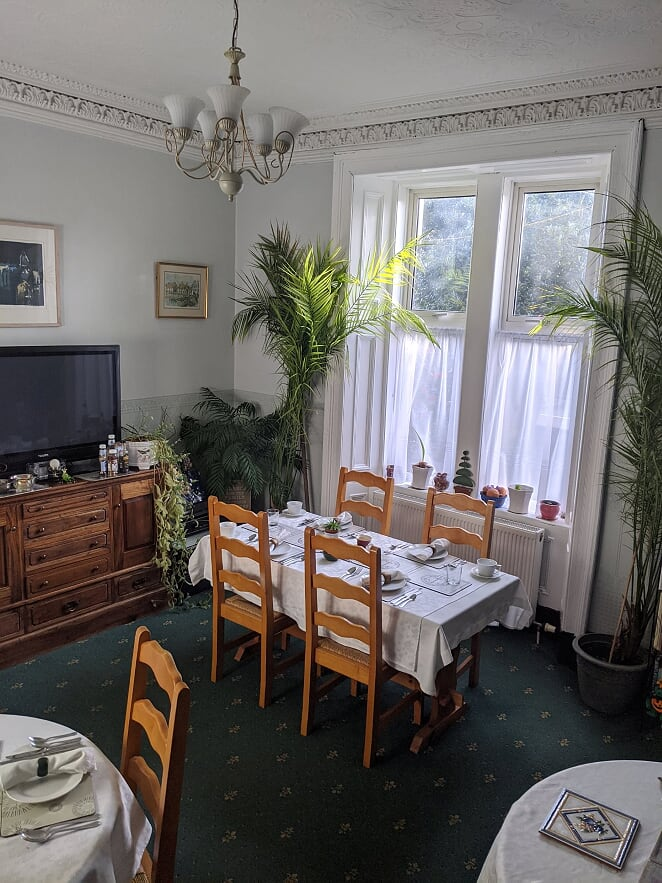 Dining room Ashley House Broughty Ferry